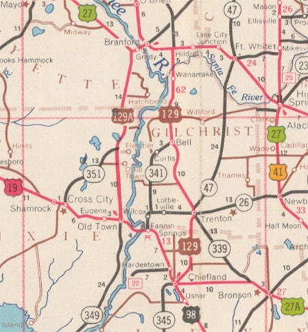 End Of US Highway US Ends Com - Us 129 map
