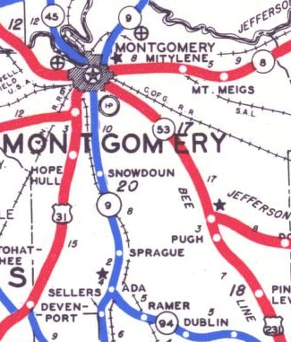 US hwy ends in Montgomery AL US Ends com