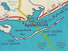 Apalachicola Florida Map.Us Hwy Ends In Apalachicola Fl Us Ends Com