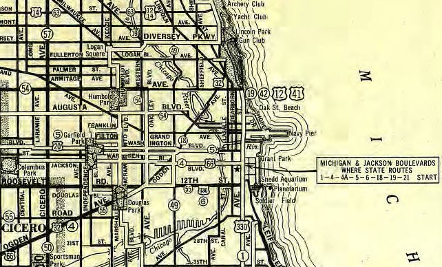 US Hwy Ends In Chicago IL US Ends Com - 1934 us highways map
